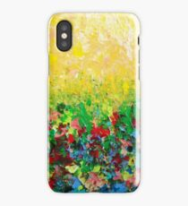 NATURE'S LIVING ROOM - Gorgeous Bright Bold Nature Wildflower Field Landscape Abstract Art  iPhone Case