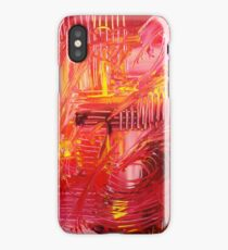 THE TANGO - BOLD Bright Acrylic Beautiful Modern Abstract Painting Dance Red Yellow iPhone Case