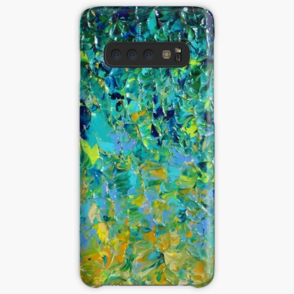 BEAUTY BENEATH THE SURFACE - Stunning Lake Ocean River Water Nature Green Blue Teal Yellow Aqua Abstract Samsung Galaxy Snap Case