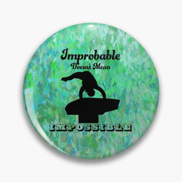 Gymnastics Vault Silhouette with Impossible Quote Pin