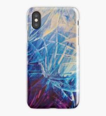 NIGHT FLOWERS - Beautiful Midnight Florals Feathers Eggplant Lilac Periwinkle Cream Modern Abstract iPhone Case