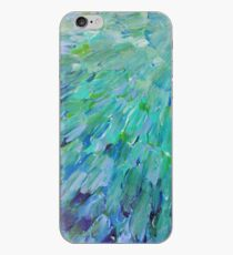 SEA SCALES - Beautiful BC Ocean Theme Peacock Feathers Mermaid Fins Waves Blue Teal Abstract iPhone Case