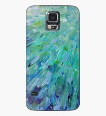 Funda/vinilo para Samsung Galaxy ESCALAS DE MAR - Hermoso BC Ocean Theme Plumas de pavo real Mermaid Fins Waves Blue Teal Abstract