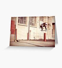 Austyn Gillette - Backside Flip - Los Angeles - Photo Aaron Smith Greeting Card