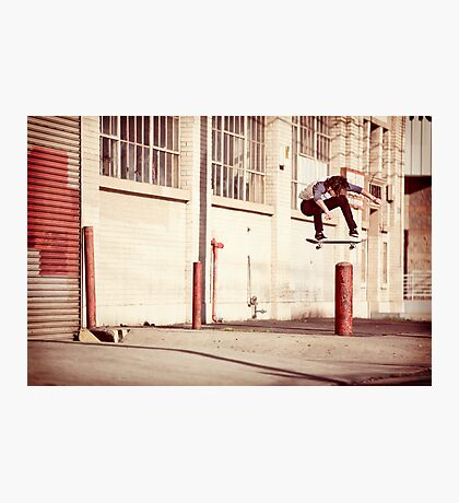 Austyn Gillette - Backside Flip - Los Angeles - Photo Aaron Smith Photographic Print