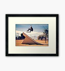 Ray Barbee - 360 Flip - Arizona - Photo Aaron Smith Framed Print