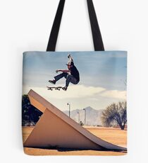Ray Barbee - 360 Flip - Arizona - Photo Aaron Smith Tote Bag