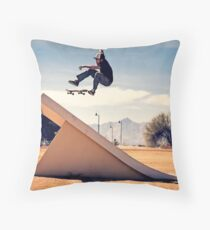 Ray Barbee - 360 Flip - Arizona - Photo Aaron Smith Throw Pillow