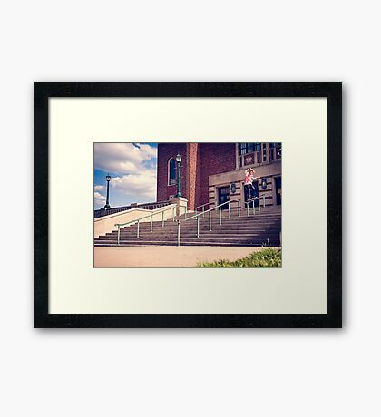 Dan Lutheran - 50-50 - Kansas City - Photo Aaron Smith Framed Print