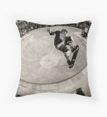 Christian Hosoi - Air - New York - Photo Aaron Smith Throw Pillow