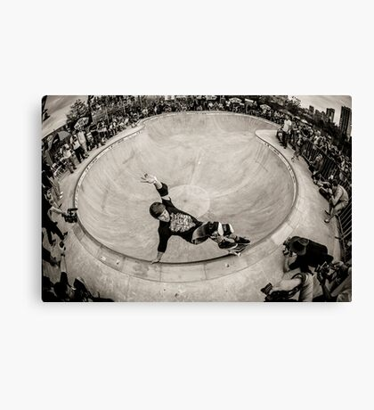 Christian Hosoi - Layback Smith Grind - New York - Photo Aaron Smith Canvas Print