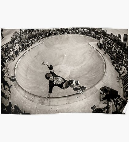 Christian Hosoi - Layback Smith Grind - New York - Photo Aaron Smith Poster