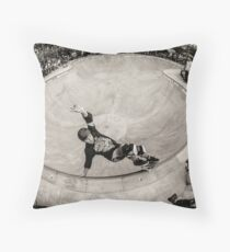 Christian Hosoi - Layback Smith Grind - New York - Photo Aaron Smith Throw Pillow