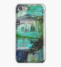 AQUATIC COMMOTION in Color - Textural Ocean Beach Nautical Abstract Acrylic Painting Wow Winter Xmas iPhone Case/Skin