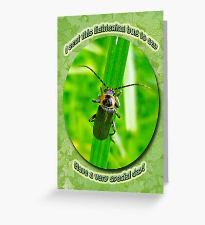 Child Kid Birthday Greeting Card - Lightning Bug Greeting Card