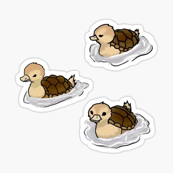 Turtle Ducks Sticker
