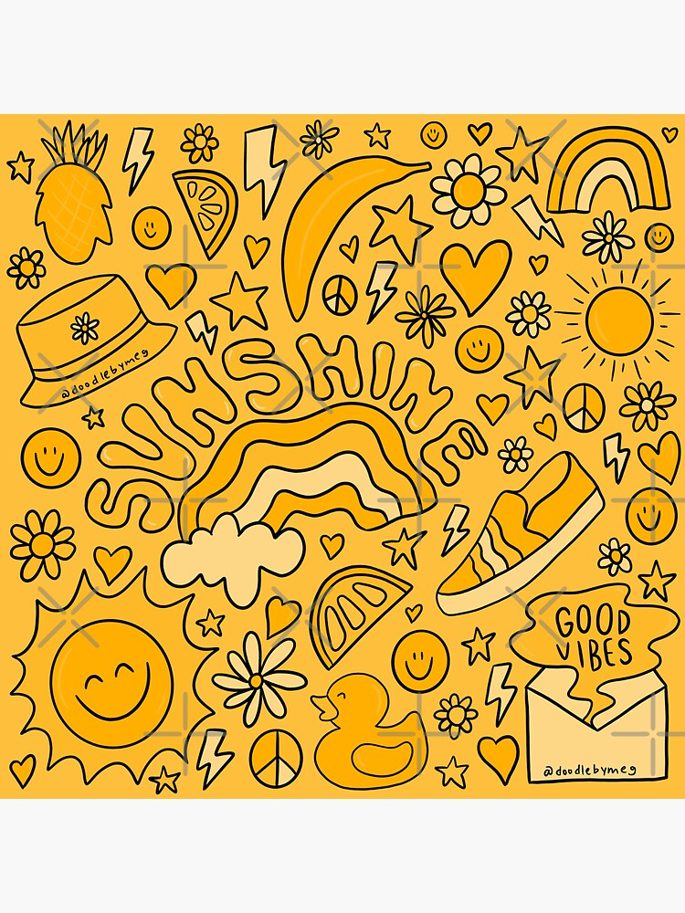 Yellow Print by doodlebymeg