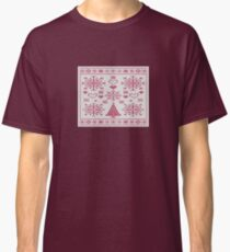 Christmas Cross Stitch Embroidery Sampler Classic T-Shirt