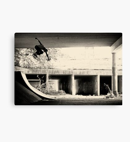 Jason Dill backside ollie by Sam Muller Canvas Print