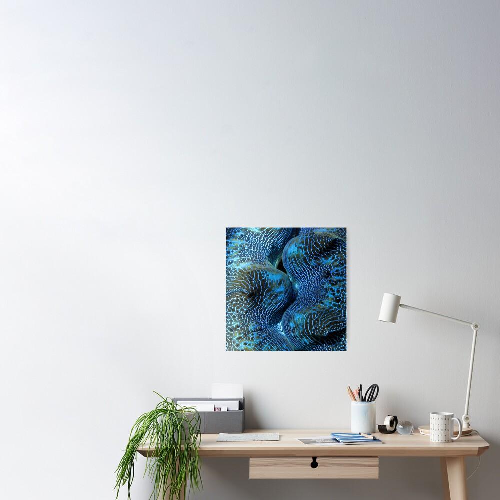 Blue Matrix Poster