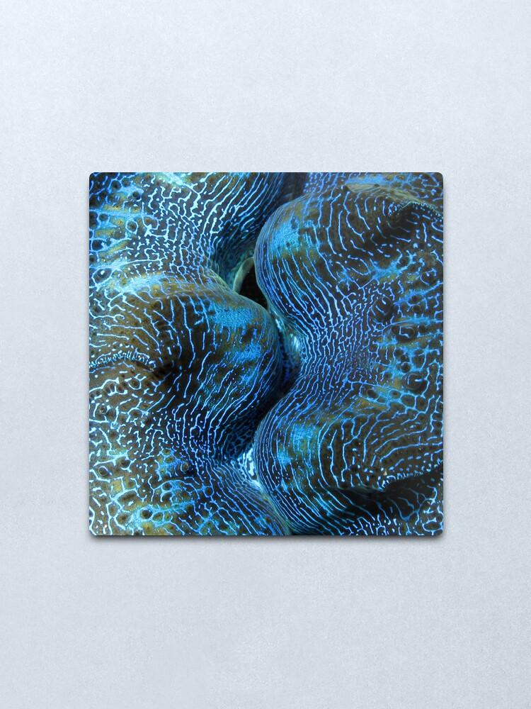 Alternate view of Blue Matrix Metal Print