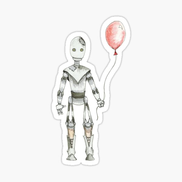 Robot with Balloon Sticker