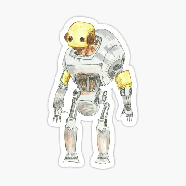 Rusty Robot Sticker