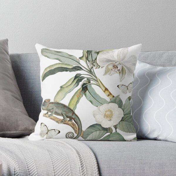 Camaleo Tropical Chamelon Floral Design Throw Pillow