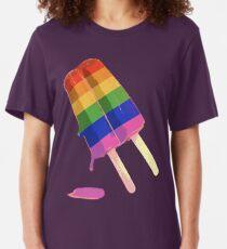 rainbow popsicle Slim Fit T-Shirt