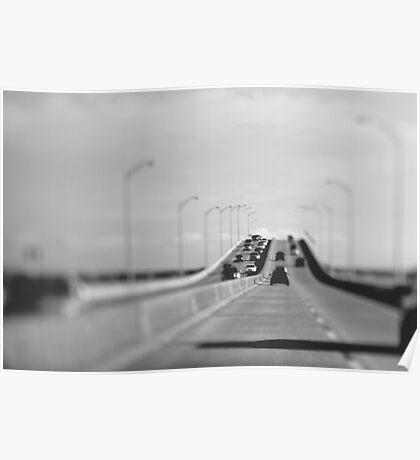 3 mile bridge, pensacola, florida Poster