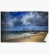 A Stormy Day at the Jetty Poster