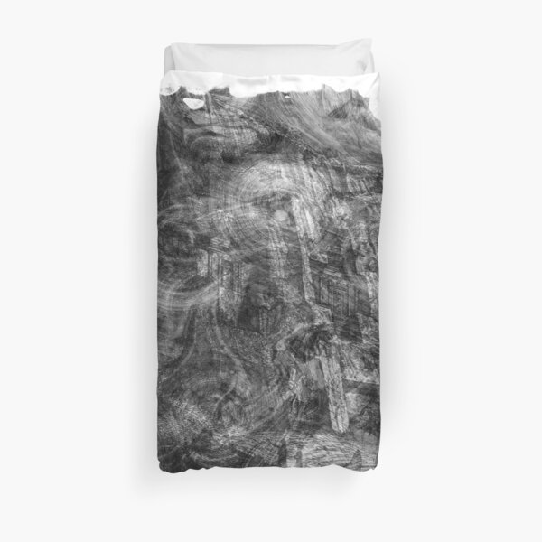 The Atlas of Dreams - Plate 26 (b&w) Duvet Cover