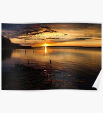 Sunset From Eufaula Poster