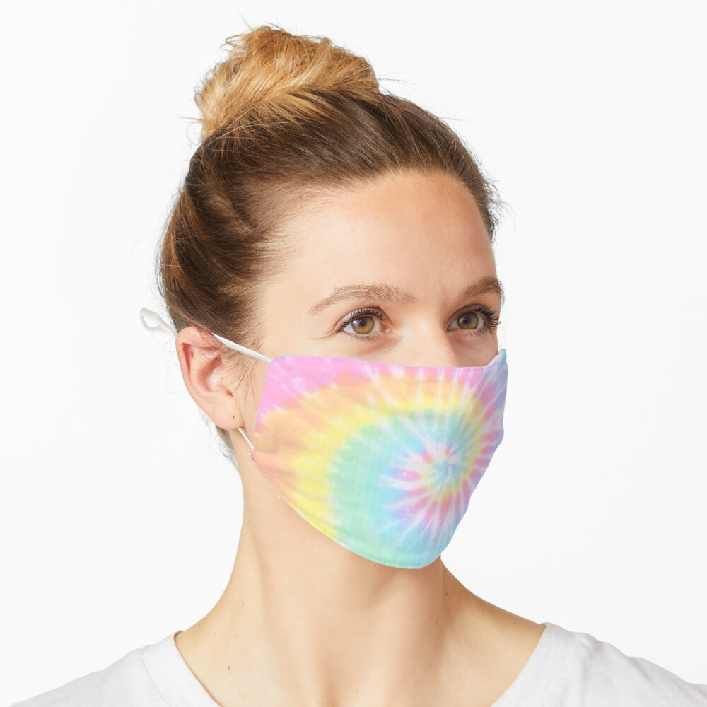 Rainbow tie dye Mask
