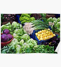 Fresh Organic Vegetables  Poster