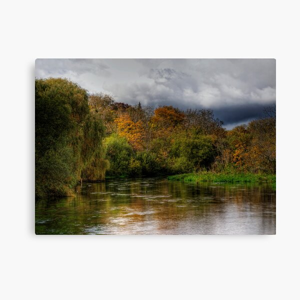 The river Itchen at Itchen Stoke, Hampshire Canvas Print