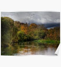 The river Itchen at Itchen Stoke, Hampshire Poster