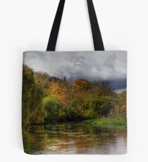 The river Itchen at Itchen Stoke, Hampshire Tote Bag