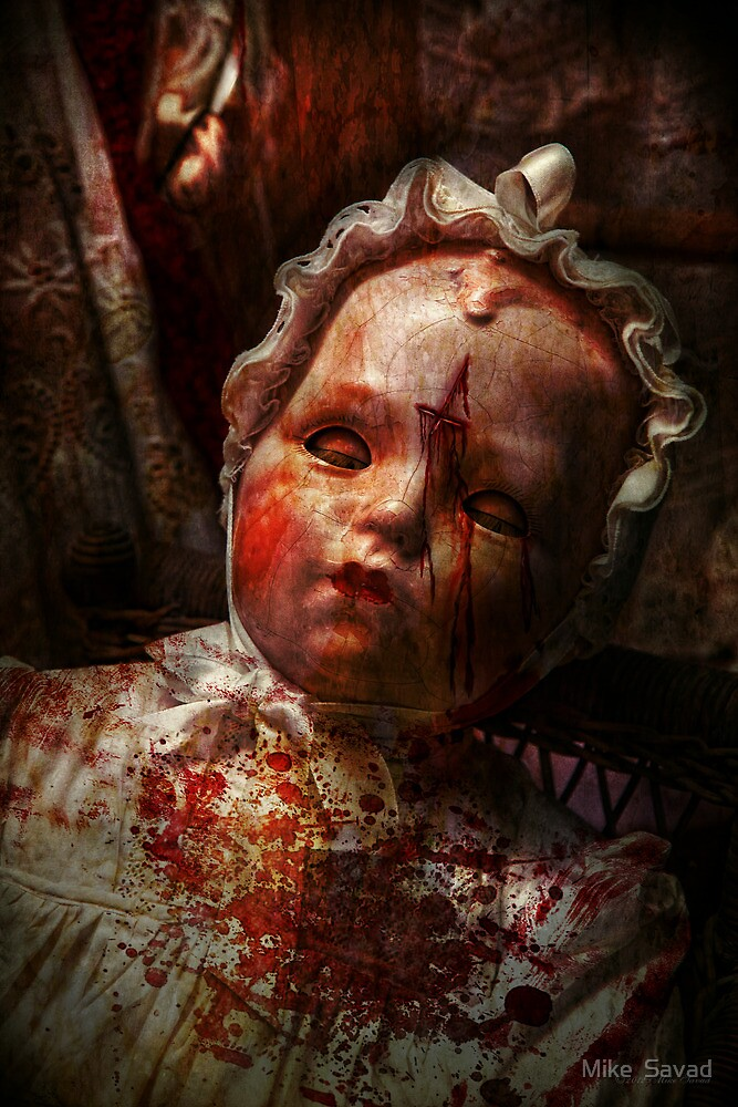 Creepy - Doll - It's best to let them sleep  by Mike  Savad