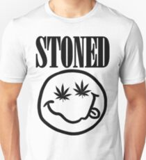 Stoned - black on white T-Shirt