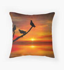 Birds at Sunset point-2 Throw Pillow