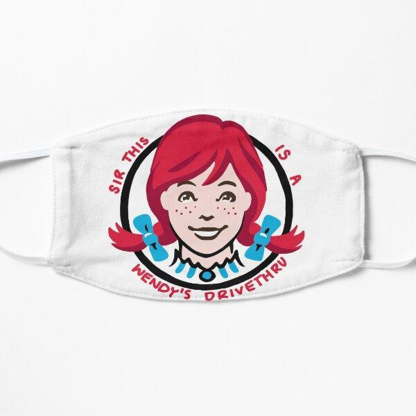 Wendy's Drivethru Meme Sticker  Flat Mask