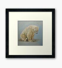 Polar bear sitting Framed Print