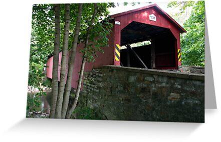 The Rishel / Montandon Covered Bridge, Circa 1827 by Gene Walls