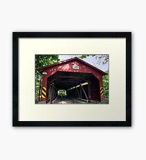 Oldest American Covered Bridge, The Rishel Framed Print