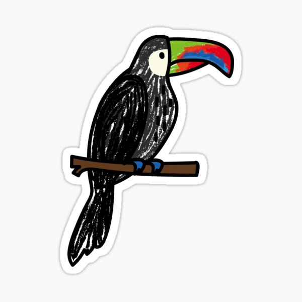 Toucan drawing Sticker