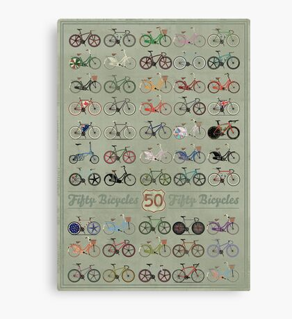 Fifty Bicycles Canvas Print