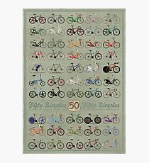 Fifty Bicycles Photographic Print