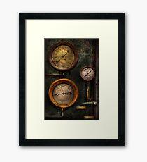 Steampunk - Plumbing - Gauging success Framed Print