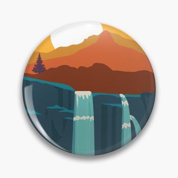 vintage Cuyahoga Valley National Park waterfalls mountain Ohio Pin
